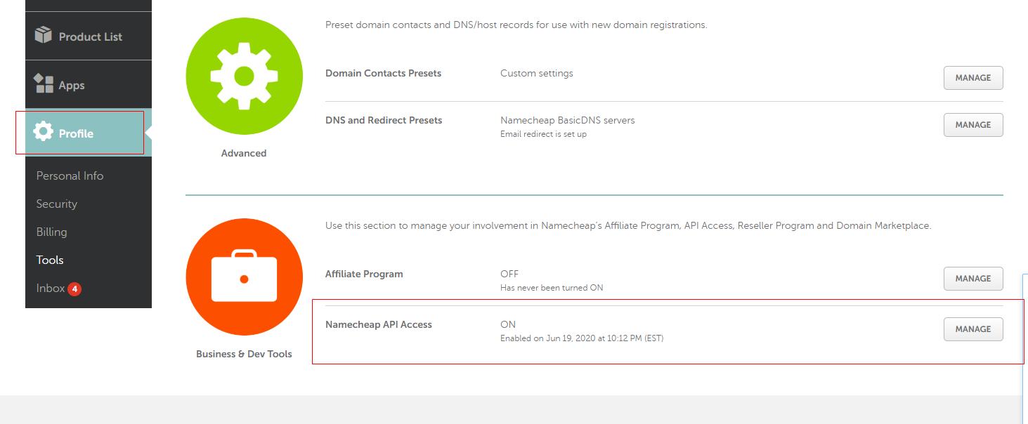 caddy 修改 自动申请证书方式为 使用namecheap api接口